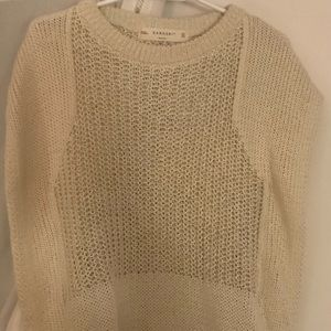 ✨3 for $30✨ZARAKNIT hollow knit sweater size M